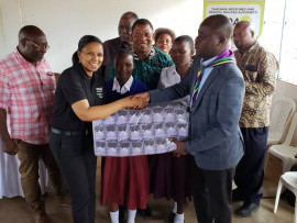 TMDA contributes 2, 448 sanitary pads to form four students at an Academic Hostel in Simiyu, supporting the Region's efforts in the education center.